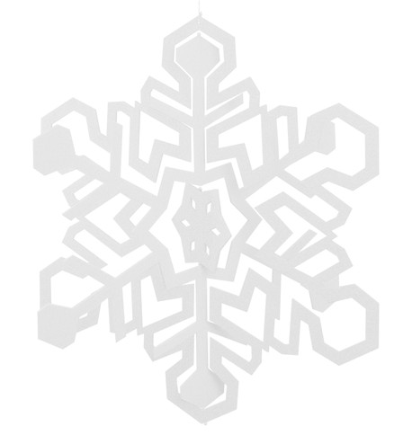 GIANT CUT OUT SNOWFLAKE White