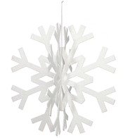 GLITTERED SLOT TOGETHER SNOWFLAKE - White