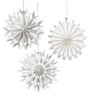 CARD SNOWFLAKES - White