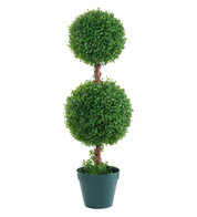 BOX DOUBLE BALL TOPIARY - Green
