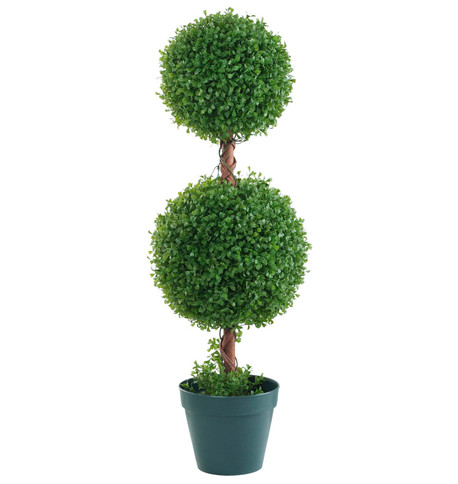 BOX DOUBLE BALL TOPIARY Green