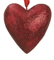 GLITTERED HEART  - Red