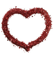 TINSEL HEART - Red