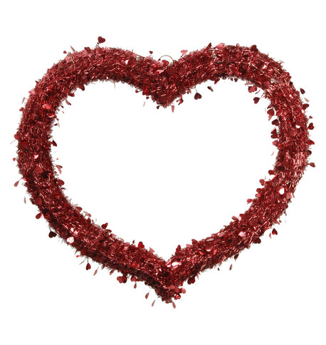 TINSEL HEART Red