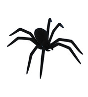 FLOCKED SPIDER  - Black