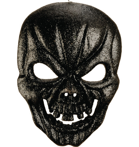 GLITTERED MASK  Black