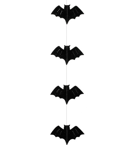 BAT GARLAND  Black