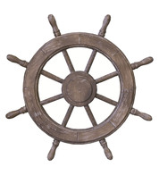WOODEN SHIPS WHEEL - Multicolour