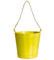 WOODEN BUCKET - Yellow