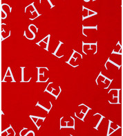 SALE FABRIC - Red And White