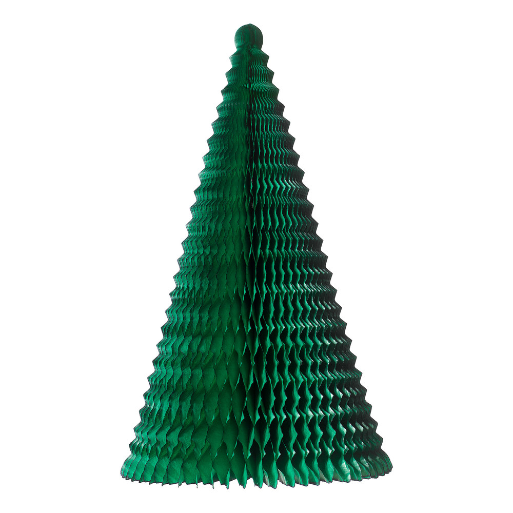 Fold out paper christmas tree green dzd for Christmas tree items list