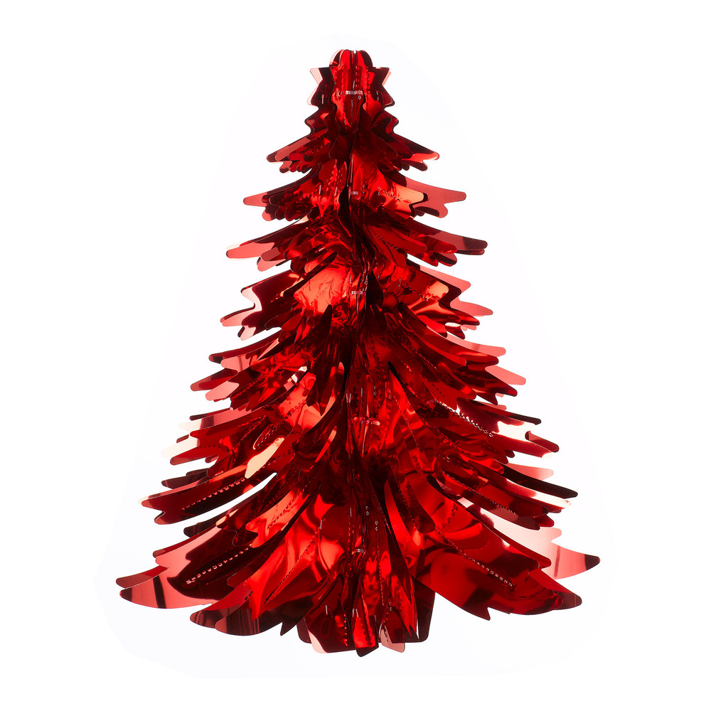 Foil Christmas Tree.Foil Christmas Tree Red