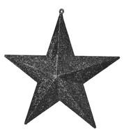 GLITTER STARS - BLACK - Black