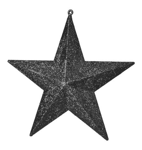 GLITTER STARS - BLACK Black