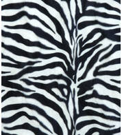 ZEBRA TEXTURED VELVET - Black And White