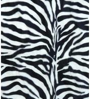 ZEBRA TEXTURED VELVET - Black and White