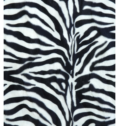 ZEBRA TEXTURED VELVET Black and White