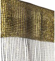 MARISSA FRINGE CURTAIN - GOLD - Gold