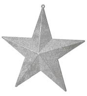 GLITTER STARS - silver - Silver