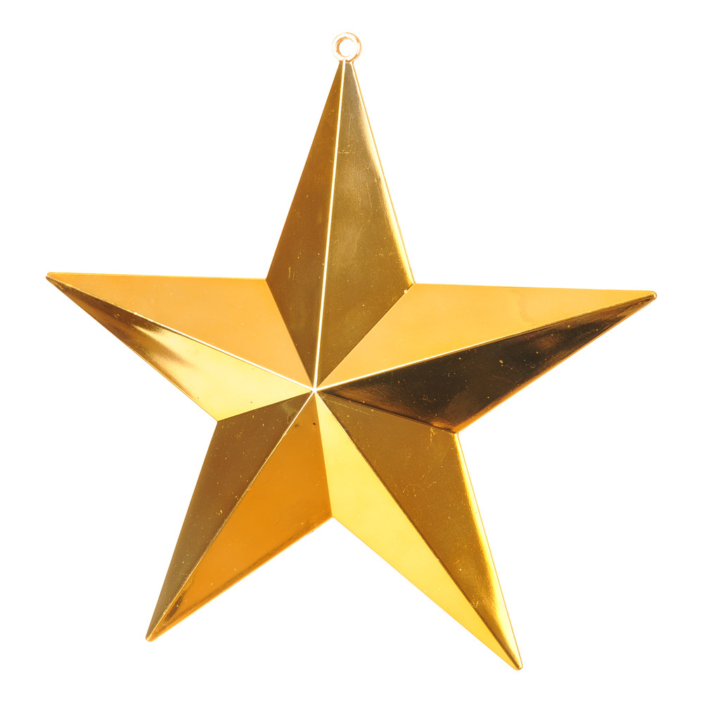 shiny stars gold gold - Christmas Star Decorations