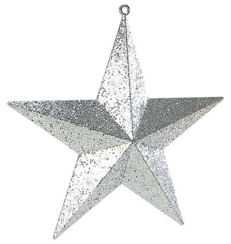 LARGE GLITTER STARS - SILVER Silver
