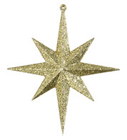 GLITTER STAR 8 POINT - GOLD - Gold