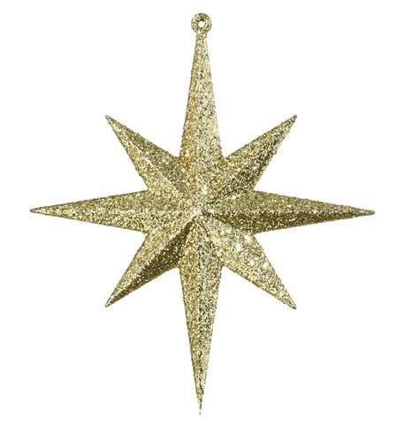GLITTER STAR 8 POINT - GOLD Gold