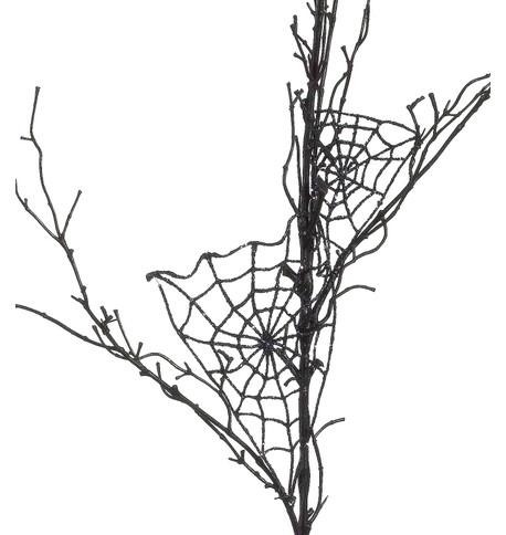 SPIDER WEB BRANCH Black