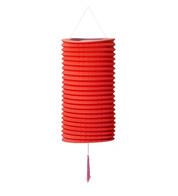 PAPER COLUMN LANTERN - RED - Red