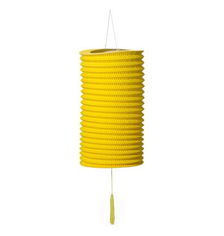 PAPER COLUMN LANTERN - YELLOW Yellow