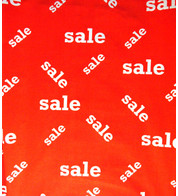 SALE FABRIC - RANDOM - Red And White