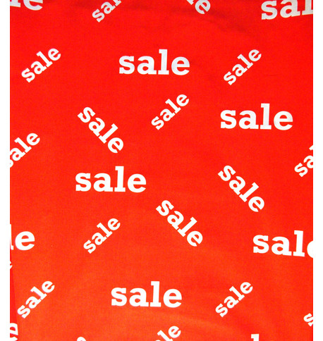 SALE FABRIC - RANDOM Red And White