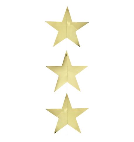 Foil Star Garlands - GOLD Gold