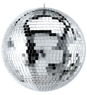 Silver Mirror Balls - Silver