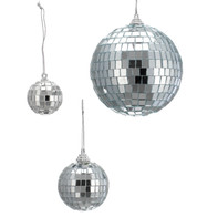 MIRROR BAUBLES - Silver