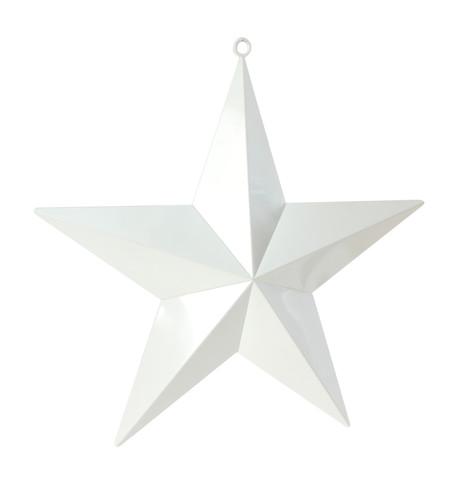 LARGE SHINY STARS - WHITE White