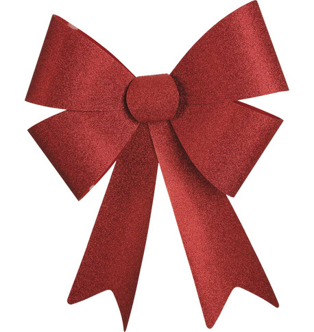 GLITTER BOWS - RED Red