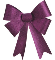 GLITTER BOWS - PURPLE - Purple