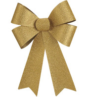 GLITTER BOWS - GOLD - Gold