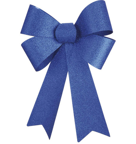 GLITTER BOWS - BLUE Blue