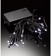 LED BATTERY LIGHTS - STATIC OR FLASHING - BLACK FLEX - White