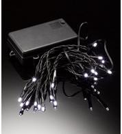 LED BATTERY LIGHTS - STATIC OR FLASHING - BLACK FLEX - White