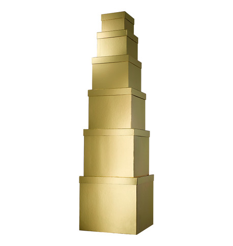 GIANT BOX SET SQUARE - GOLD Gold
