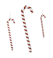 Glitter stripe candy canes - Red And White