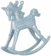 ROCKING HORSE DECORATION - BLUE - Blue