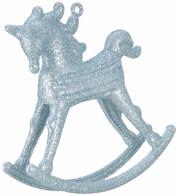 ROCKING HORSE DECORATION - BLUE - Blue
