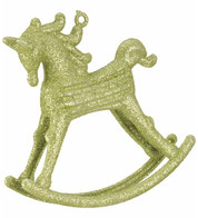 ROCKING HORSE DECORATION - GREEN - Green