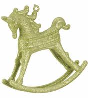 ROCKING HORSE DECORATION - GREEN - Green