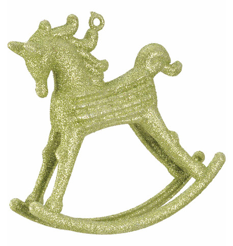 ROCKING HORSE DECORATION - GREEN Green