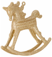 ROCKING HORSE DECORATION - GOLD - Gold